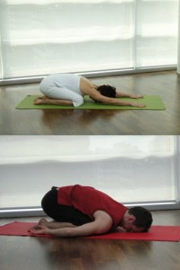 childs pose balasana