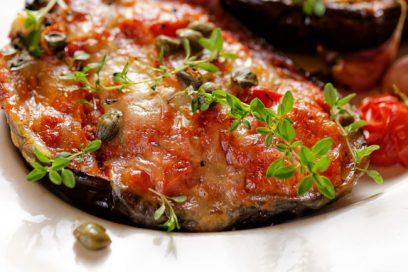 Delicious vegetarian Eggplant Gratin