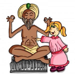 yoga guru with student
